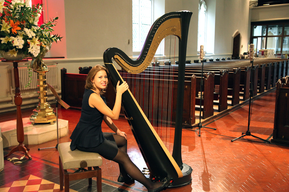 Event harpist for hire london - Valeria