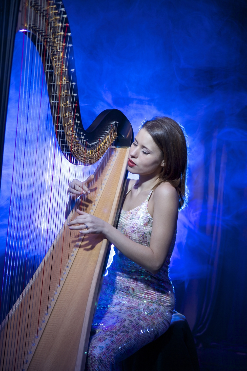 Harpist in London