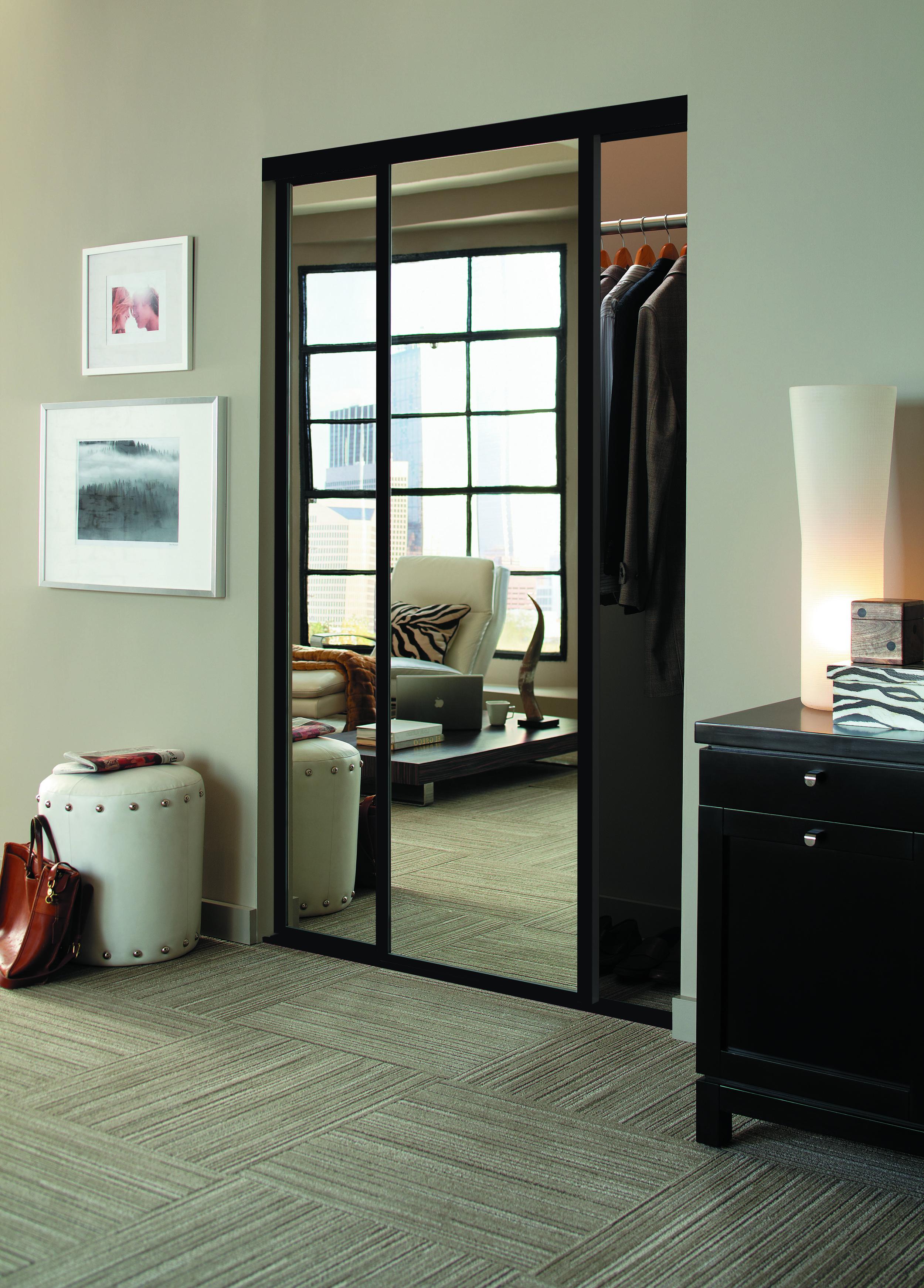 Mirrored Closet Doors Interior Doors And Closets