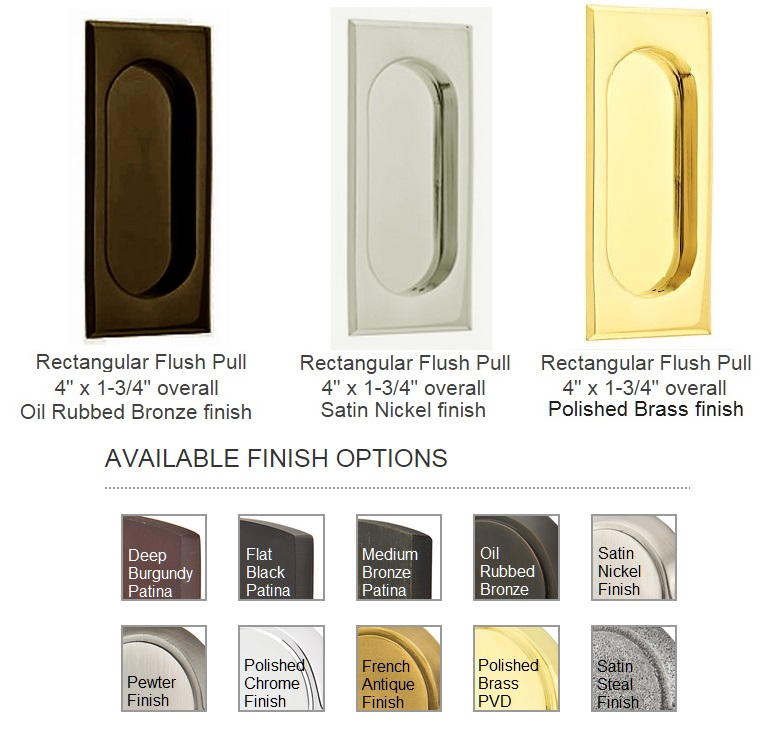 Rectangular Closet Door Pulls 2