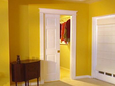 Captivating 6 Panel Pocket Door Yellow Room