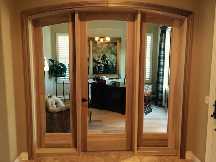 Stain grade doors interior doors and closets landrigan arched door and sidelights straightenedg planetlyrics Images