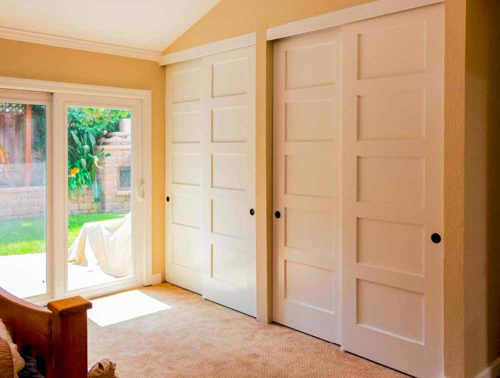 How To Build A Closet With Sliding Doors Images Accordion Style