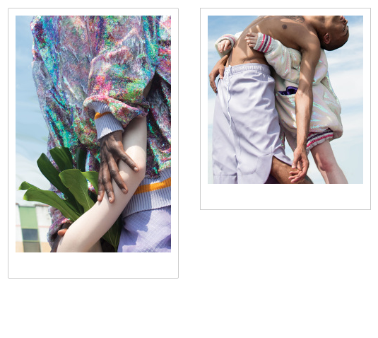 Fascinating iridescent menswear by  Brogan Toyn