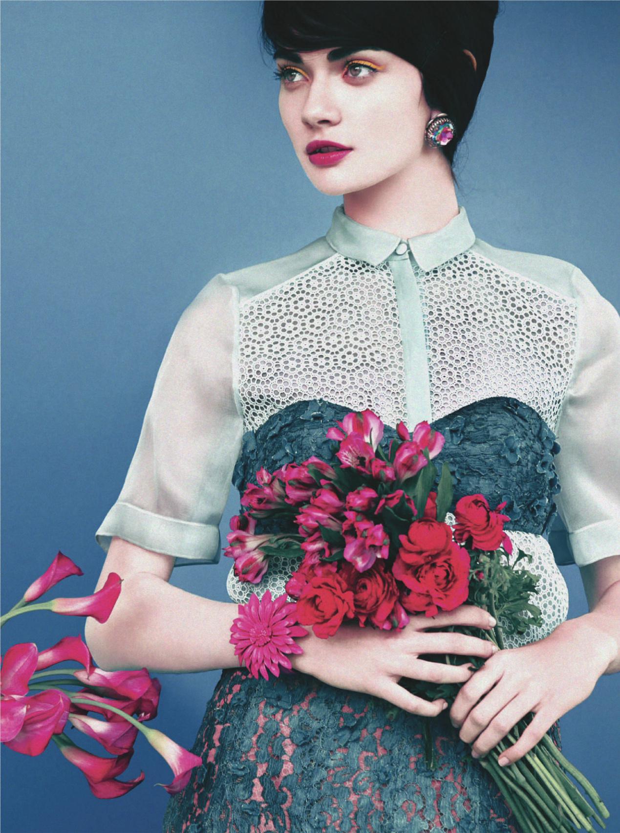 Antonina Vaslychenko in  Sweet Sixties  photographed by  Erik Madigan Heck  for  UK Harper's Bazaar, March 2014