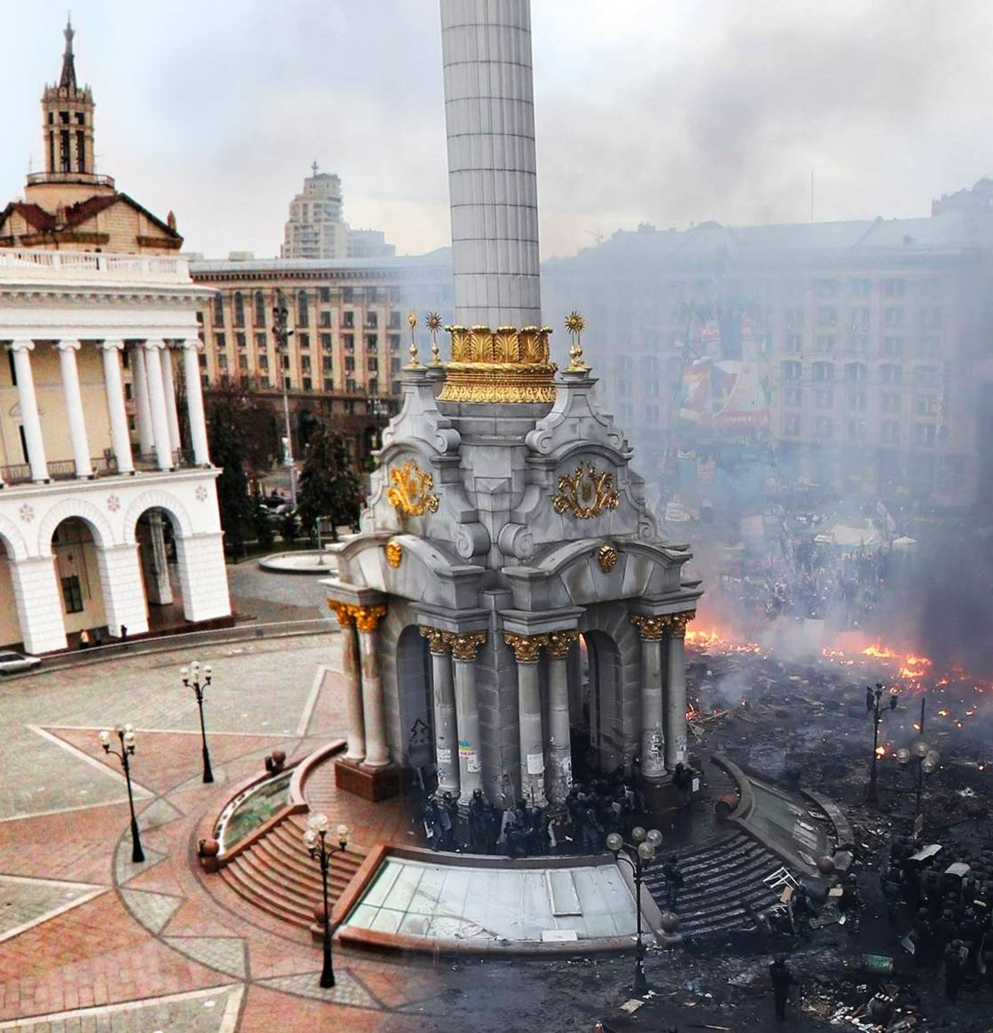 smorgasbaby :     Kiev, largest city of Ukraine, before the violent demonstrations and now.