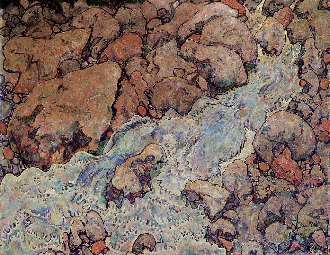 Mountain Torrent,  Egon Schiele, 1918