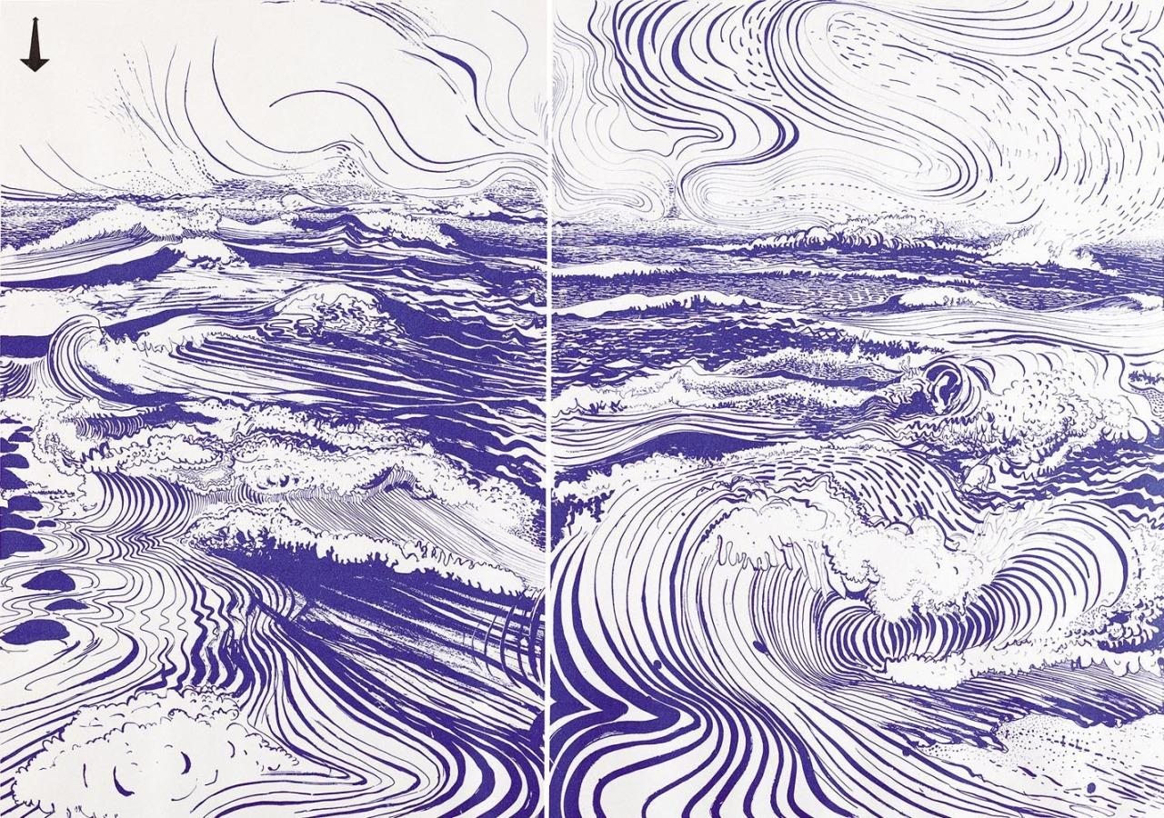 Brett Whiteley (Australian, 1939-1992),  The Divided Unity , 1974. Screenprint, 66.5 x 93.5cm. Edition 63/70.