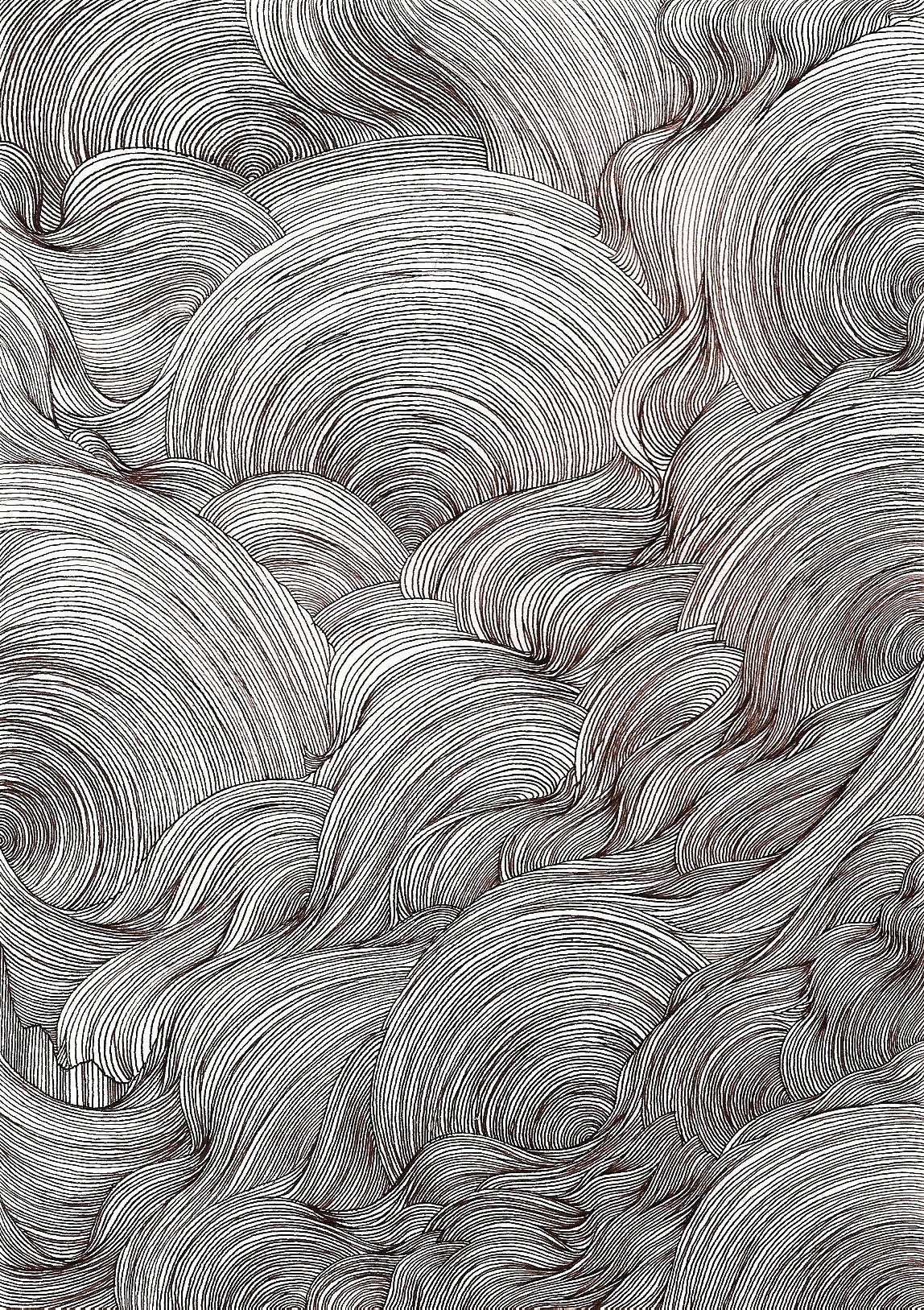 ysabelledurant :     ink line drawing