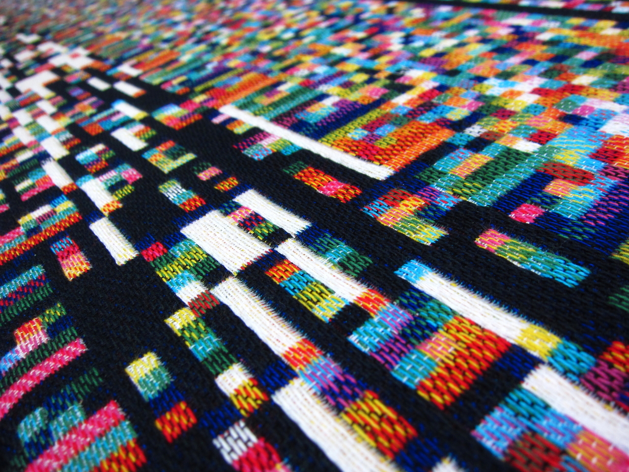 "For Lizette: Glitch Textiles, Phillip David Stearn, ""Documentation from the TextielLab"""