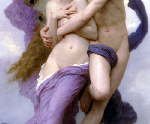the abduction of psyche (detail), william-adolphe bouguereau