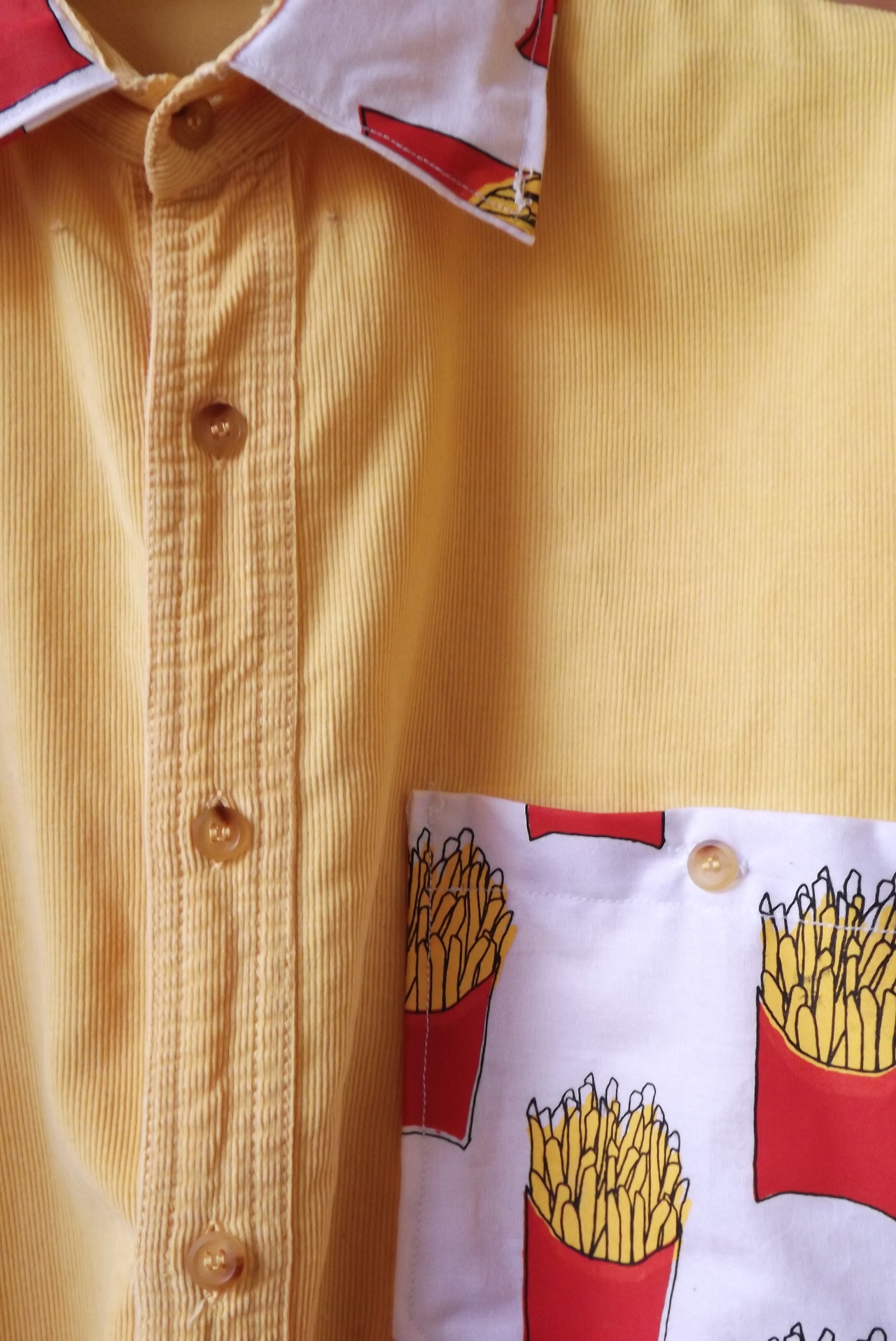 hungryzipper :     CORDUROY FRIES SHIRT     this is actually pretty cute