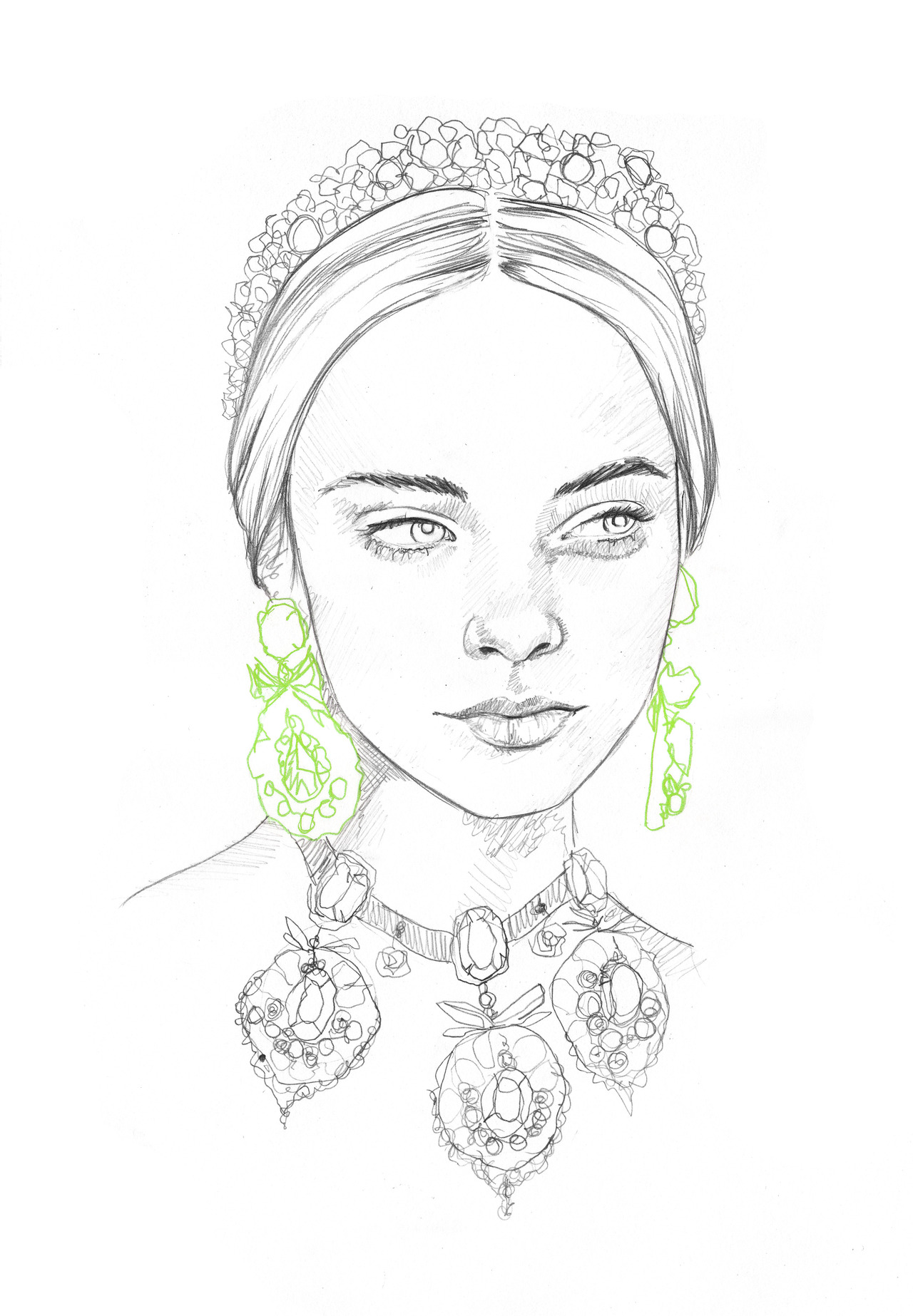 rosaliekateillustration: 20 minute sketch 30/09/12 Dolce & Gabanna Fall 2012
