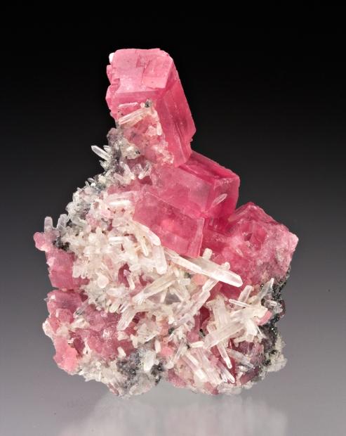 mineralia: Rhodochrosite with Quartz from Colorado by Dan Weinrich