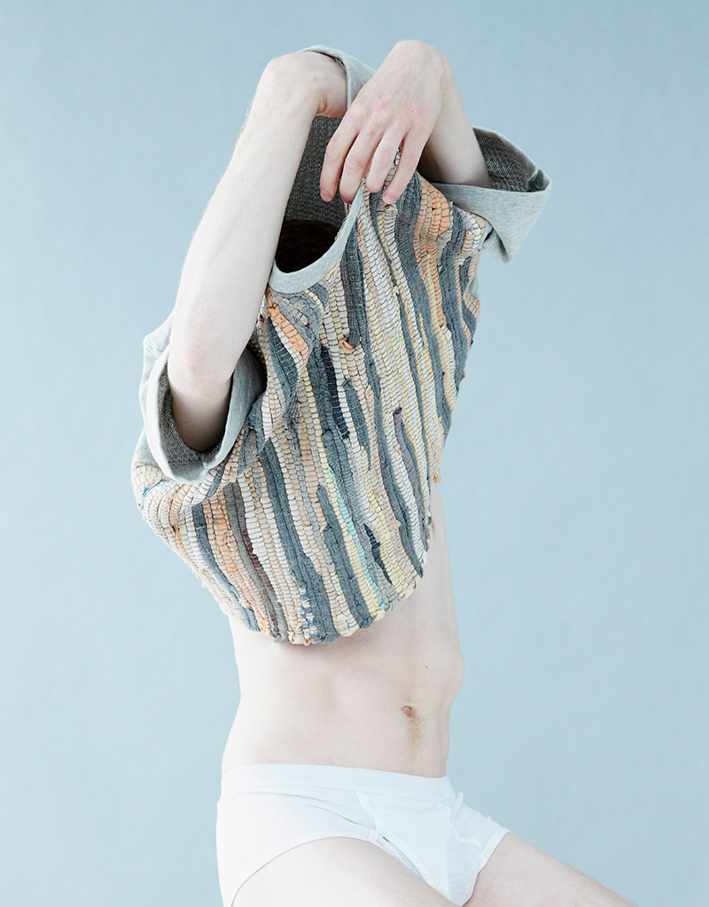 wgsn:The new Christian L'enfant Roi campaign for S/S 2013 combines strange poses with equally unusual textures.