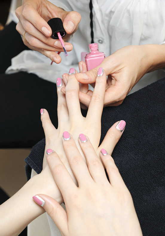 Nails backstage at Chanel Haute Couture, Fall 2012