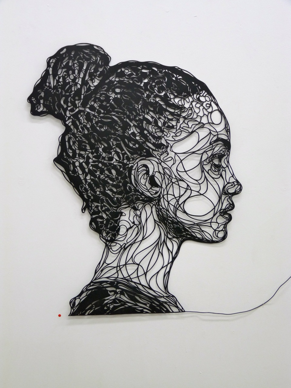 kristrappeniers: One of my papercuts in a gallery in Paris