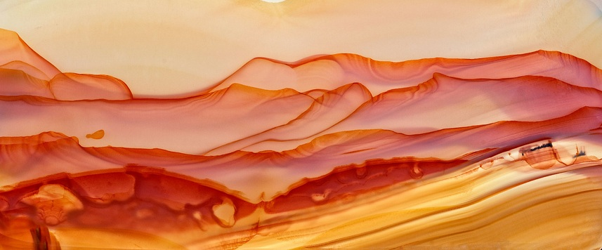 Agate chosen for it's similarity to a landscape