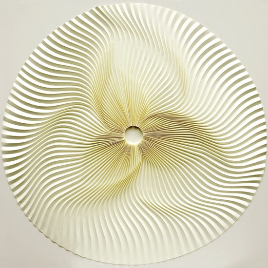 Pleated reliefs by Yuko Mishimura