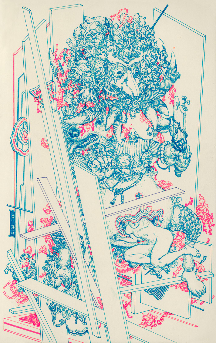 Some very psychedelic new work from James Jean.