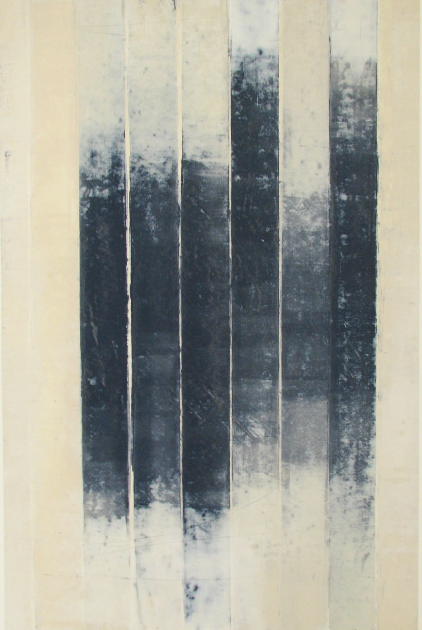 glovaskicom: Revealed #9, oil and wax on paper, Doug Glovaski  2009