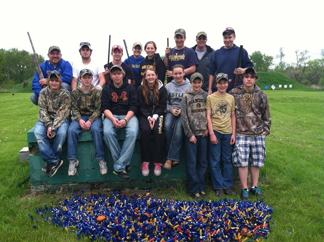 Trap Team: Row 1: Brady Adams, Jack Goeden, Reid Miller, Jessica Langer, Emily Astle, Chris Hahn, Matt Goeden, Elijah Schmitz; Row2: Coach Norm Gallant, Blaine Cooper, Jacob Goeden, Coach Chelsea Goldberg, Ella Harrison, Drew Killian, Coach Mike Kenney, William Astle; Not Pictured: Ryan Grendahl, Tristin Godel, Blake Nelson, Seth Ament, Bryce Cooper, Tyler Scott, Coaches Chris Holman and Don Schiller
