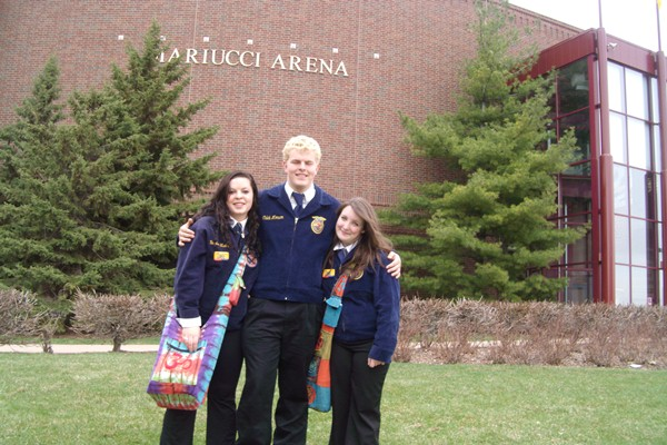 WDC FFA members attending Minnesota State FFA Convention Tiffany Shultz, Caleb Monson and Hope Norenberg.