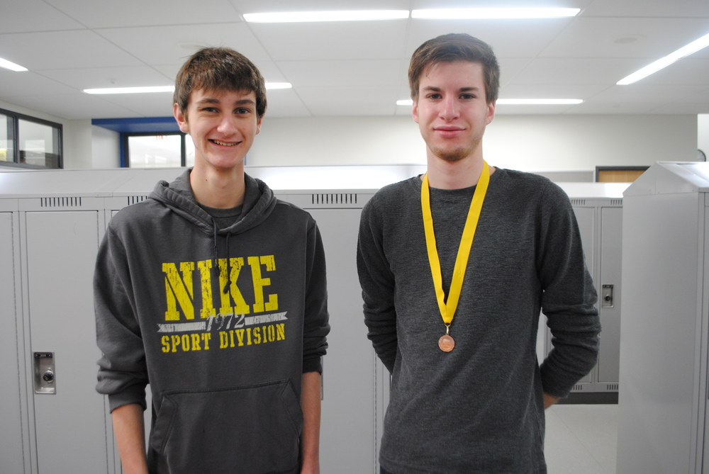 WDC speech students Adam Leverson and Jordan Geiser participated in the Section 8A tourney recently held in Underwood. (Photo by Dana Pavek, WDC Schools)