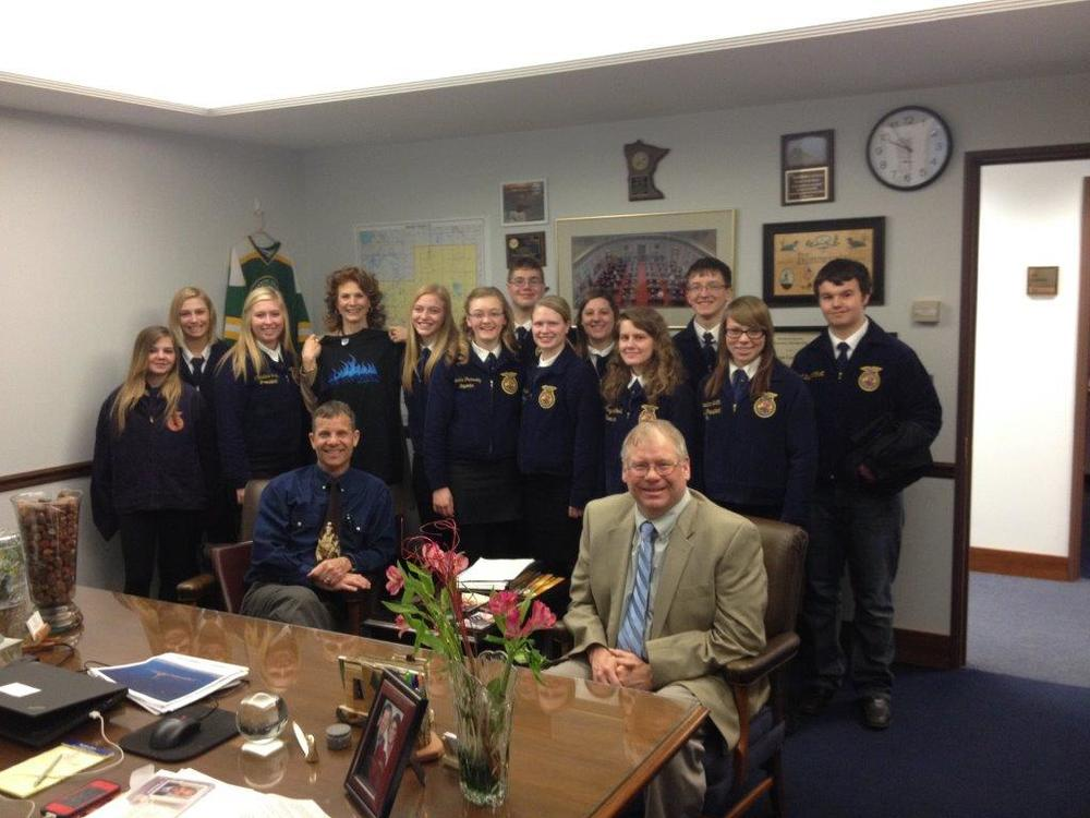 WDC and Staples-Motley FFA members meet with State Senator Carrie Ruud. (Courtesy photo)