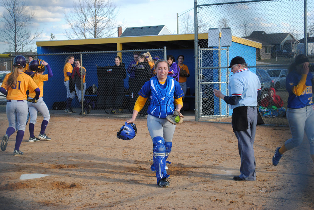 Junior Maddy Hinojos played the catcher position for the Wolverines and was a consistent player on the team.