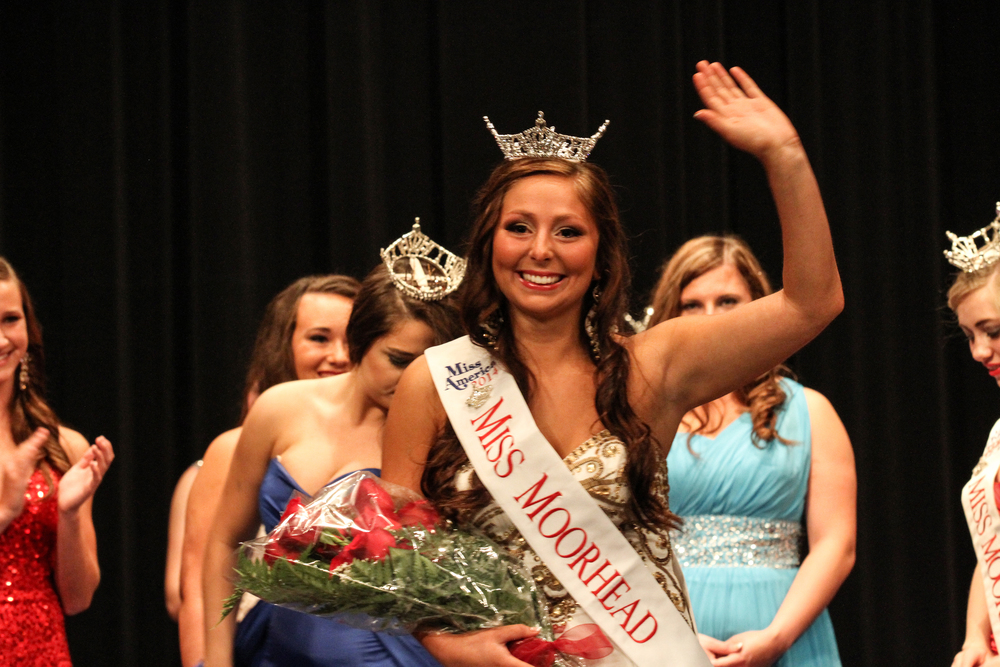 This photo was captured moments after Wadena native/WDC High School graduate Ella Harrison was crowned Miss Moorhead on Saturday. The photo was taken by Ella's mother, Cheryl, an accomplished photographer.