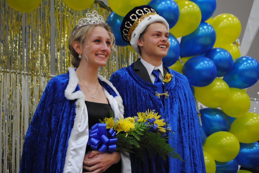 Marissa Jahnke and Brody Wangsness were named 2014 Homecoming King and Queen for Wadena-Deer Creek High School Friday morning. (Photos by Dana Pavek, WDC Schools)
