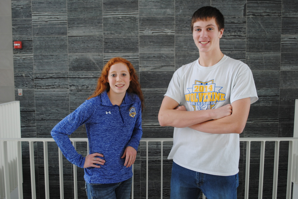 ExcCEL nominees Kendra Evans and Wyatt Fitzsimmons are being recognized for excellence in community, education and leadership. (Photo by Dana Pavek, WDC Schools)