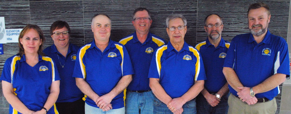 Wadena-Deer Creek school board members being honored this week include from left: Ann Pate, Jil Fiemeyer, Wayne Perkins, Kent Schmidt, Steve Techam, Pete Hayes and Supt. Lee Westrum. (Photo by Dana Pavek, WDC Schools)