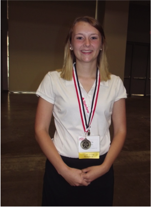 Jessica Langer earned a gold medal on her STAR event, job interview.