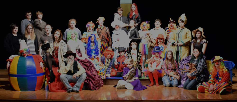 "Pictured is the cast of this year's fall production of ""Stop Sending in the Clowns,"" directed by Mr. Jay Patterson."