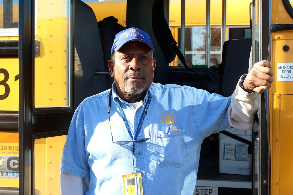 In his retirement, Tendall drives school bus for Wadena-Deer Creek School District -- a job he thoroughly enjoys.