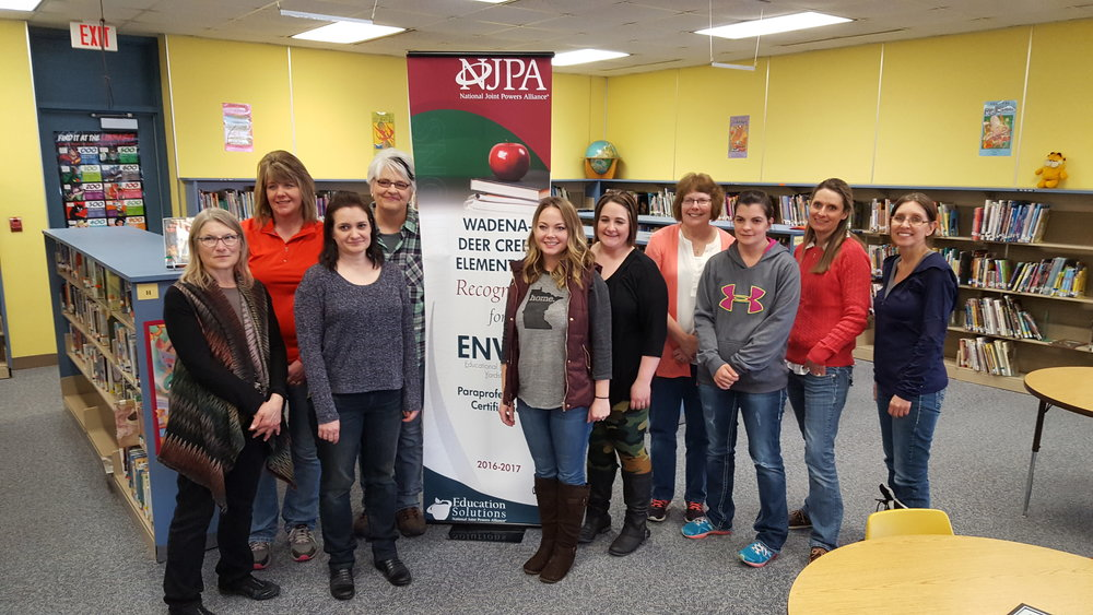 Pictured, from left: Daneen Aldrich, Christi Nelson, Sarah Ikola, Connie Klebs, Sarah Smith Alicia Wynn, Ellen Carlstrom, Alycia Mallak, Michelle Sundby and Elsie Schmidt. Not pictured: Jill Dilly, Holly Johnson, Sharol Mason and Sherri Kaufman.