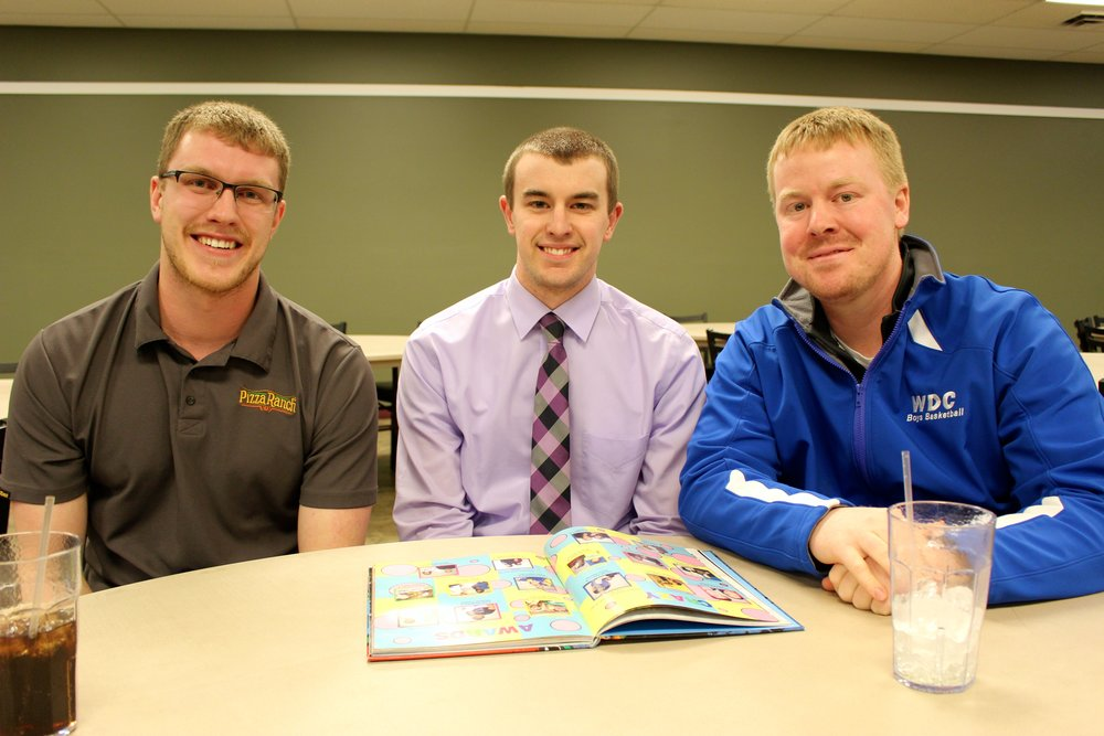 From left, Zack Kelderman, Ryan Nelson and Kevin Tumberg graduated from Wadena-Deer Creek High School in 2010. Now, all three are coaching at their alma mater and sharing their love of sports with student-athletes.