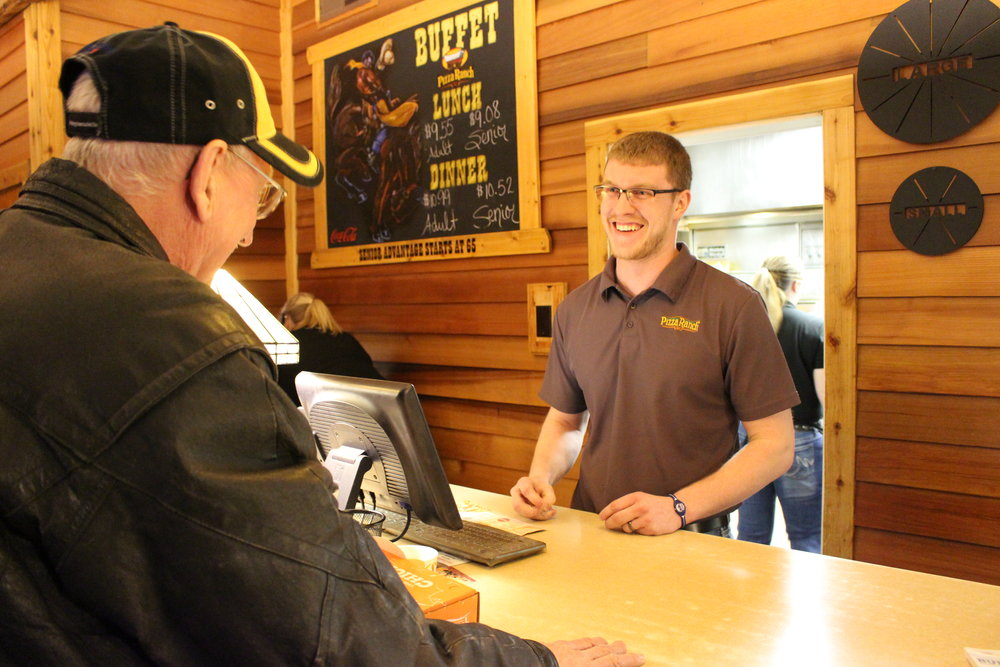 Zack Kelderman grew up working at his parents' restaurant business. He attended college at Fergus Falls where he studied marketing and returned to his hometown where he manages the Wadena Pizza Ranch.