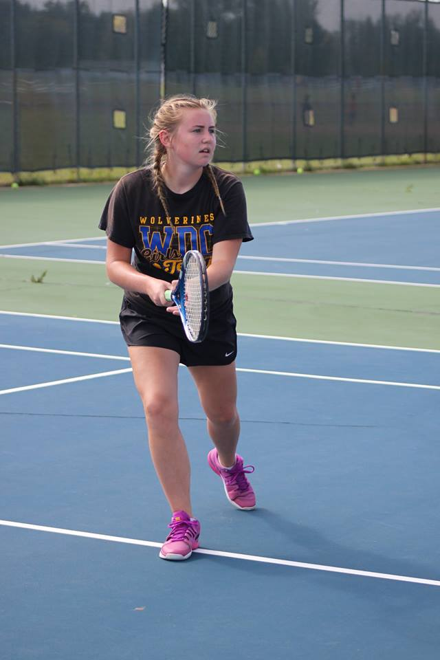Westrum has played on WDC's varsity tennis team since eighth grade!