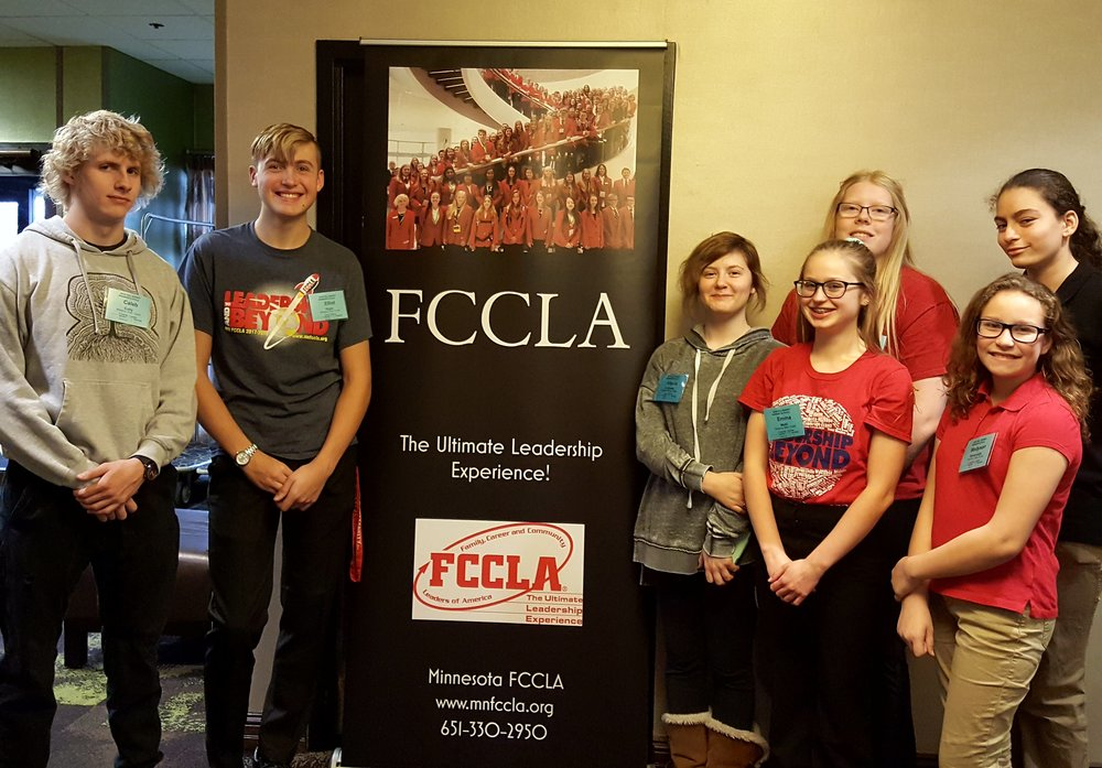 Those WDC FCCLAers who attended, from left to right, Caleb Cully, Elliot Doyle, Angela LeComte, Emma Mehl, Morgan Grangruth, Madyson Beversluis, and Mikayla Varela.