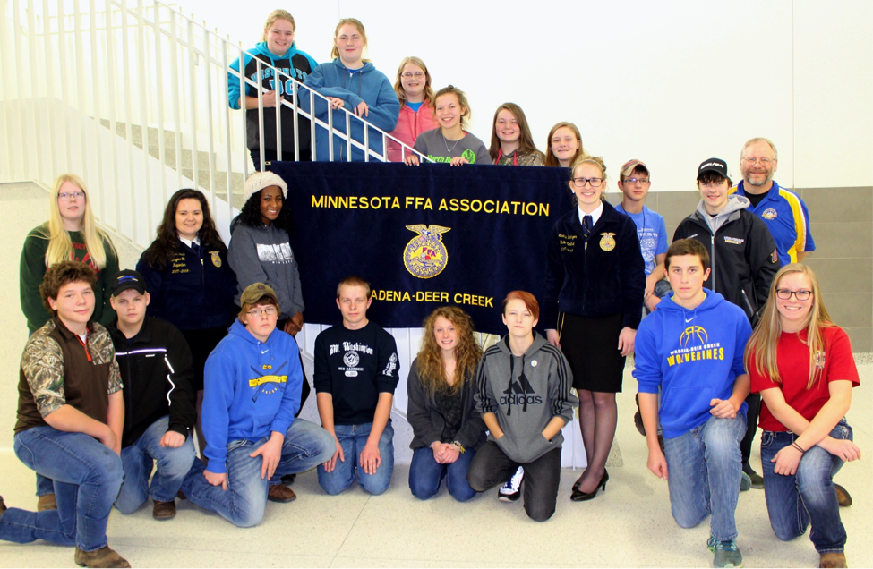 "Wadena-Deer Creek's 2017-18 FFA chapter was recognized as a ""Two-Star National Chapter"" recently at the National FFA Convention. (Photo by Dana Cantleberry, WDC Schools)"