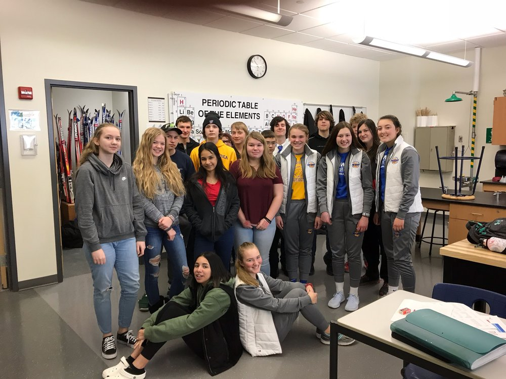 The 7th-hour Physical Science class was the winner of WDC FCCLA's Dime Drive and earned a pizza party.