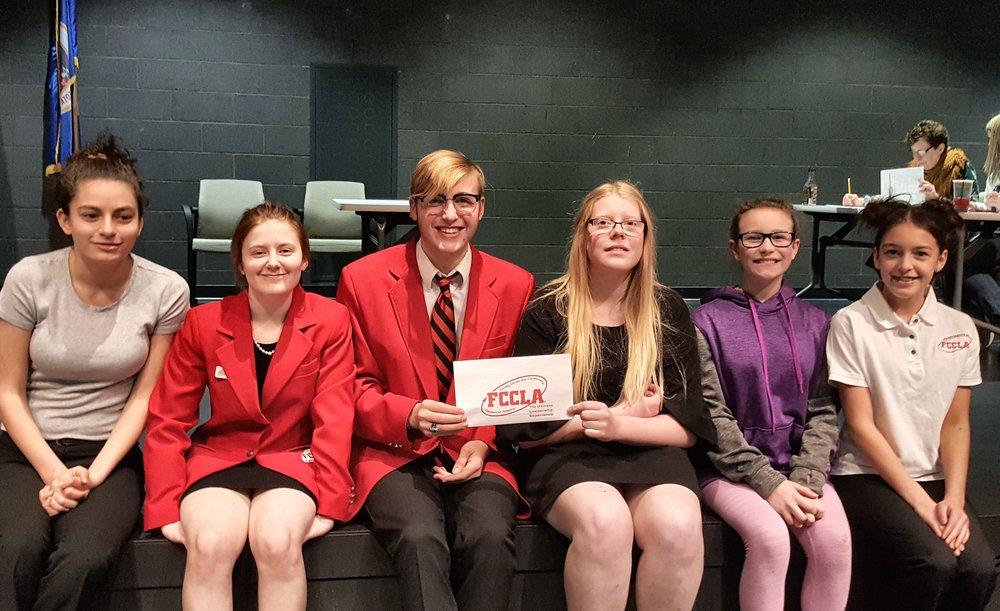 WDC chapter officers (from left): Mikayla Varela, Angela LeComte, Elliot Doyle, Morgan Grangruth, Madyson Beversluis, and Danielle Dickey.