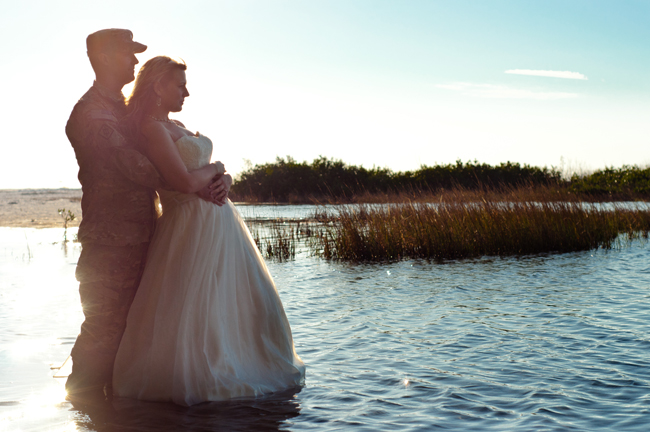 Photo Says Hello | Army Bridal Session | Fort De Soto Park | Florida