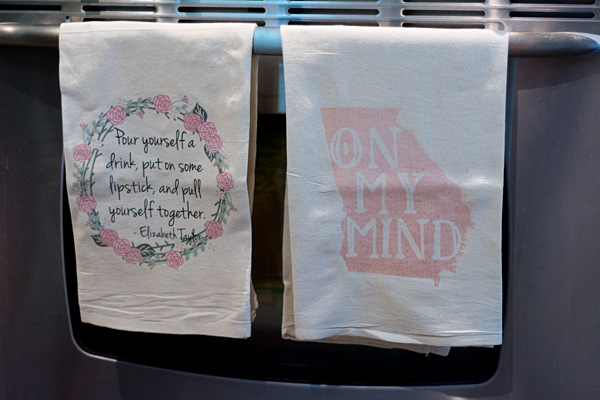 New kitchen towels from the French Silver Shop - Atlanta