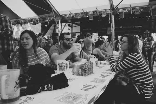 A gathering at Oktoberfest in Helen