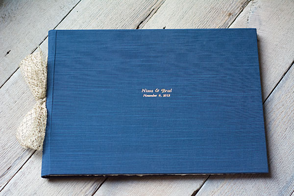 Personalized Wedding Guest Book by Blue Sky Papers