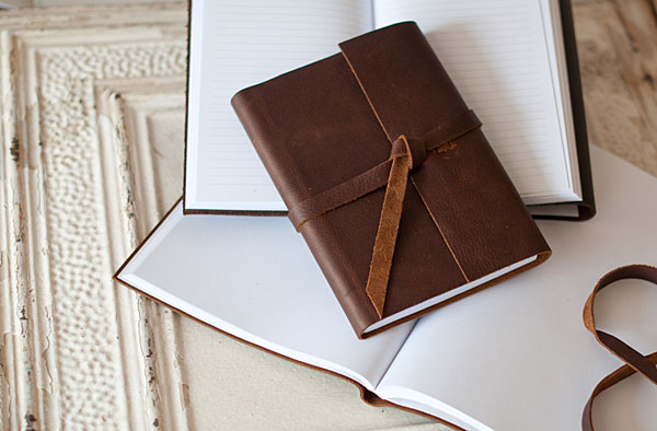 Blue Sky Paper's Leather Rustic Journal